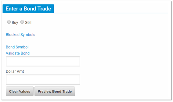 Help For The Enter A Trade Screen